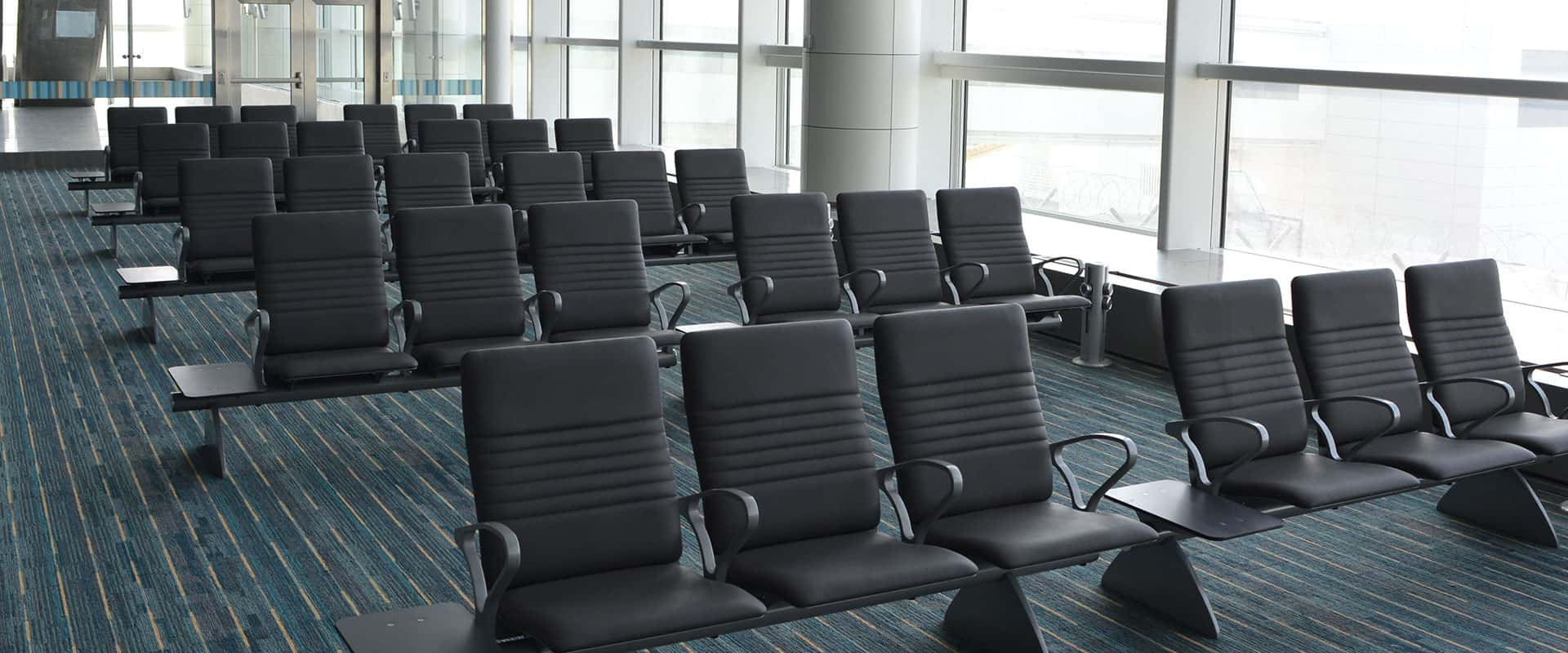 Connected waiting room chairs - Airport Furniture And Seating